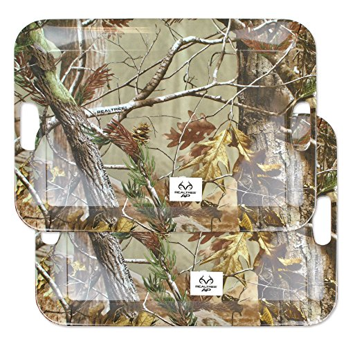 """DII, Real Tree Serving Tray, Melamine, Set of 2, 18x13"""", Green Camo"""
