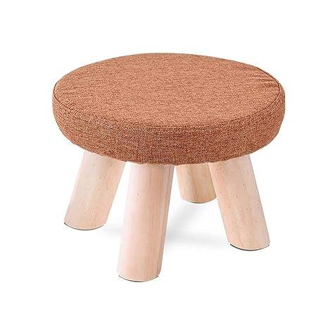 Surprising Amazon Com Carl Artbay Wooden Footstool Round Deep Orange Ibusinesslaw Wood Chair Design Ideas Ibusinesslaworg