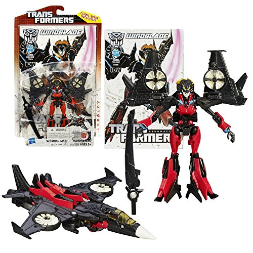 """Hasbro Year 2014 Transformers Generations """"Thrilling 30"""" Series Deluxe Class 5-1/2 Inch Tall Robot Action Figure #019 - Autobot WINDBLADE with Stormfall Sword (Vehicle Mode: VTOL Jet)"""