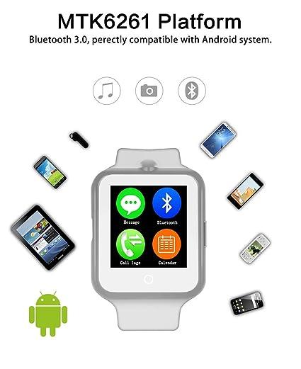 kivors impermeable inteligente Reloj con monitor de frecuencia cardiaca Bluetooth Smart reloj deportivo reloj Fitness Tracker reloj podómetro Monitor de ...