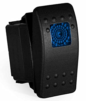 carling rocker switch - illuminated blue - v1d1, contura ii, spst, 3  terminals, sealed, waterproof, dusproof (blue), rocker switches - amazon  canada