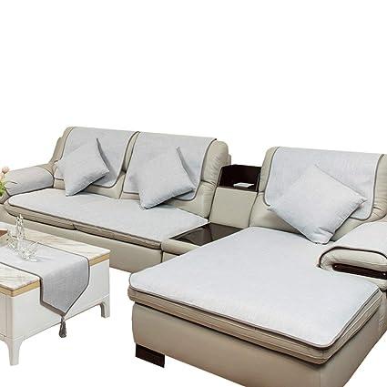 ZXUE Four Seasons Linen Sofa Cushion Fabric European Leather Cushion Sofa  Towel Cover Slip Sofa Cover