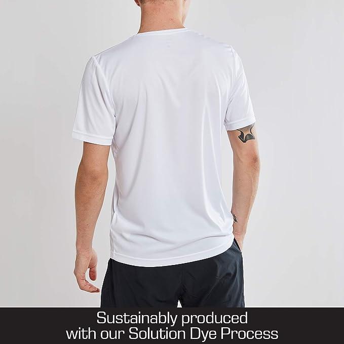Craft Loppet Short Sleeve Workout Shirts for Men Moisture Wicking Mens T Shirt White