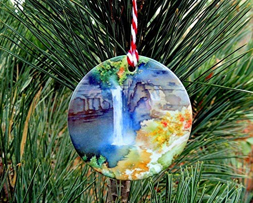 Holiday Ornament, Ithaca is Gorges, Finger Lakes Waterfall