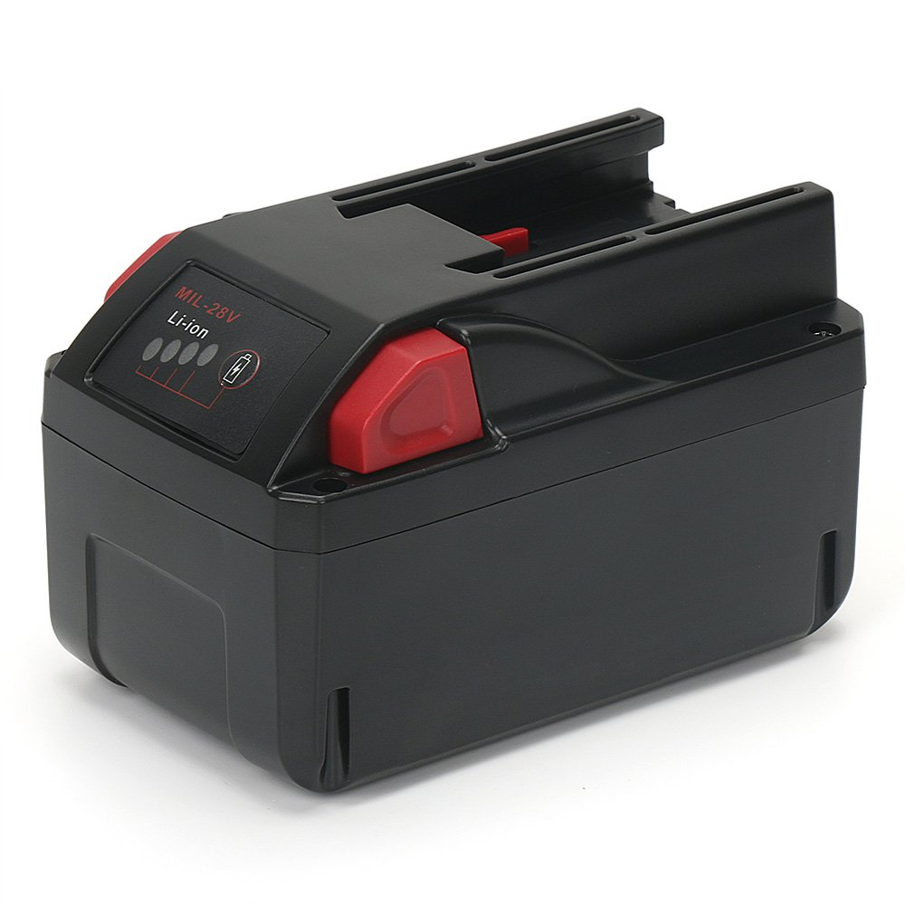 PowerGiant Upgraded 28V 3.0Ah Lithium Ion Battery Pack for Milwaukee 48-11-2830 M28 V28 Cordless Power Tools, with LED Fuel Gauge