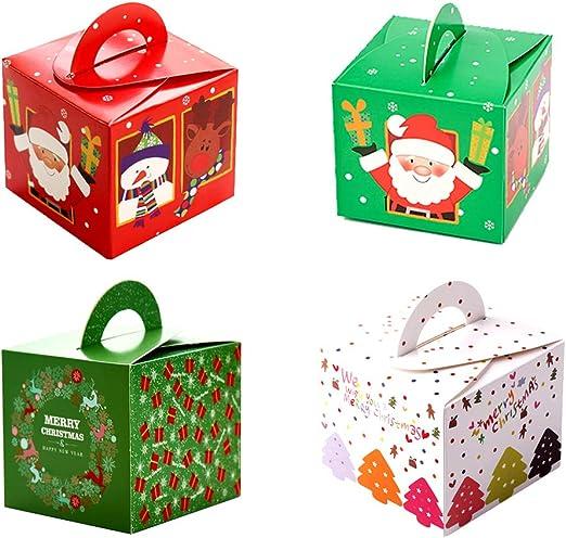 32 cajas de regalo navidad, cajas papel caramelo juego decorativa ...