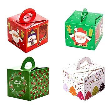 32 cajas de regalo navidad, cajas papel caramelo juego decorativa cajas de dulces,pasteles,galletas,dulces,Cupcakes,Candy y hecho a mano bebé de cajas ...