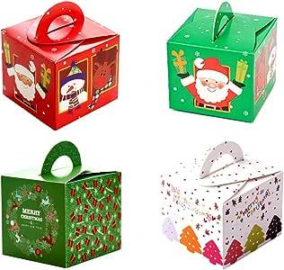 32 cajas de regalo navidad, cajas papel caramelo juego decorativa cajas de dulces,pasteles,galletas,dulces,Cupcakes,Candy y hecho a mano bebé de cajas de regalo para Navidad,cumpleaños,vacaciones: Amazon.es: Hogar