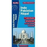 Inde - Pakistan - Népal (avec plans des centres-villes : Bombay, Delhi, Kathmandu, Madars) - Carte routière et touristique (échelle : 1/4 000 000)