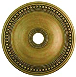 Livex Lighting 82076-48 Wingate Ceiling Medallion, Hand Painted Antique Gold Leaf