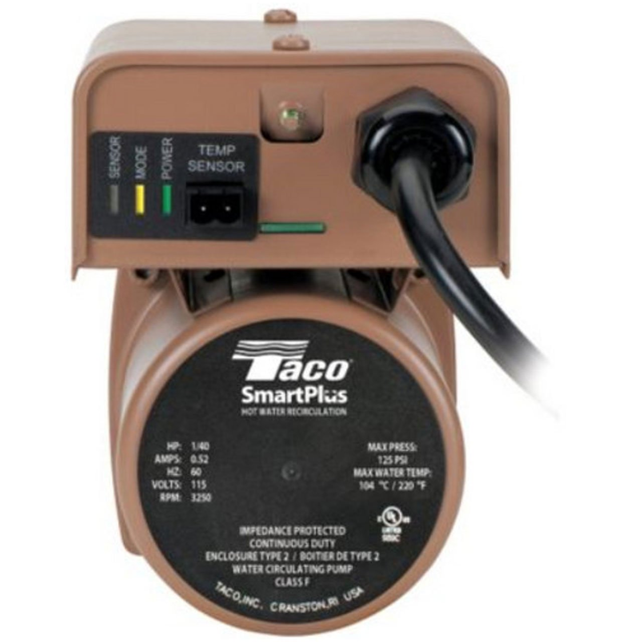 Taco 006 Iqst4 Bronze Smart Plus 3 4 Inch Ss Fpt With Line Cord Wiring Diagram Electronic Timer And Internal Check Portable Power Water Pumps
