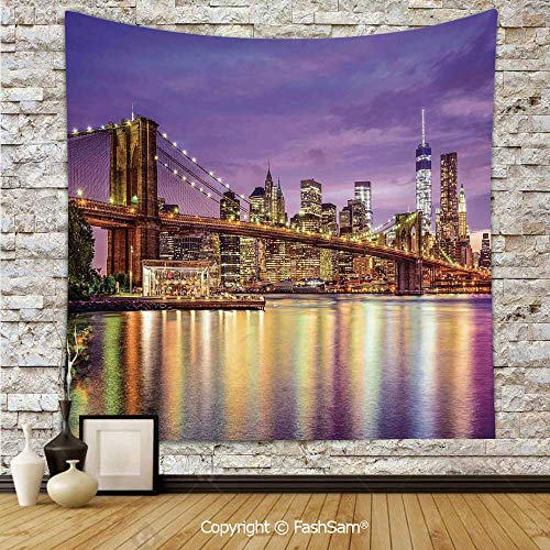 FashSam Tapestry Wall Blanket Wall Decor NYC Exquisite Skyline Manhattan Broadway Old Neighborhood Tourist Country Print Home Decorations for -