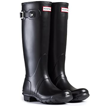 Amazon.com: Womens Hunter Original Tall Wellington Waterproof ...