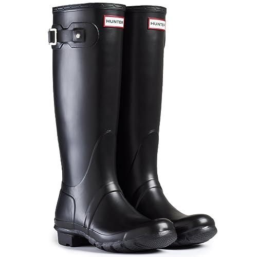 7c7169958bf hunter Womens Wellington Boots Original Tall RAIN Snow Wellies Ladies UK  3-8 Black