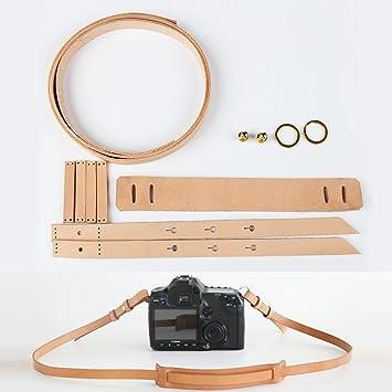 Amazon.com: WUTA Leather Camera Strap Kit Pre-cut Leather Pattern ...