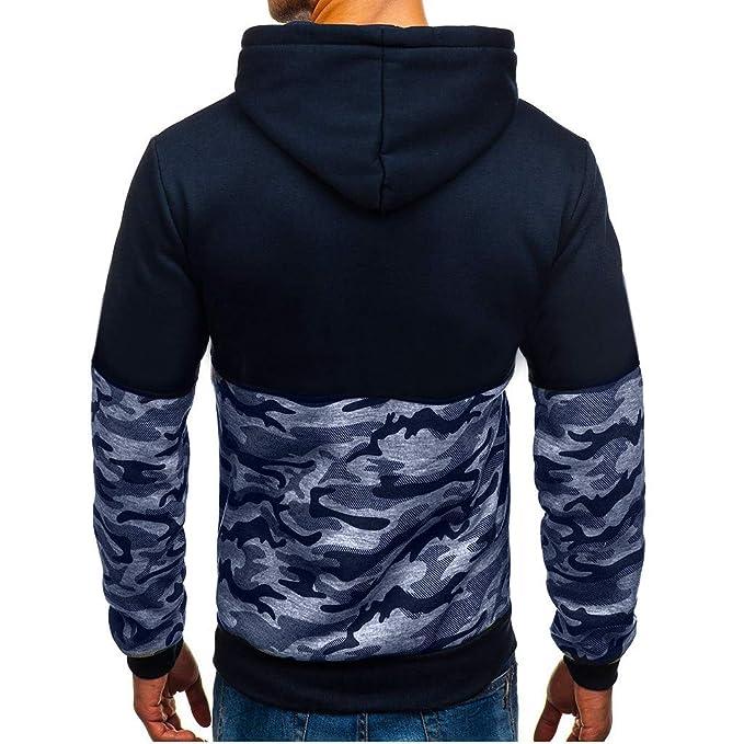 Sudaderas de Hombre Rovinci Camuflaje Impreso Patchwork Jersey de Manga Larga con Capucha Tops Blusas Camisas: Amazon.es: Ropa y accesorios