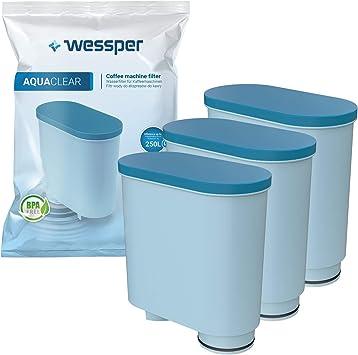Wessper Filtro de agua antical compatible con Saeco AquaClean ...