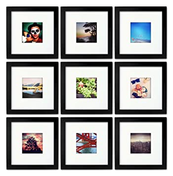 9 set tiny mighty frames wood square instagram photo frame