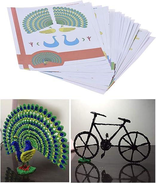 ZUINIUBI - Papel de Dibujo para Impresora 3D, 22 Piezas, 44 ...