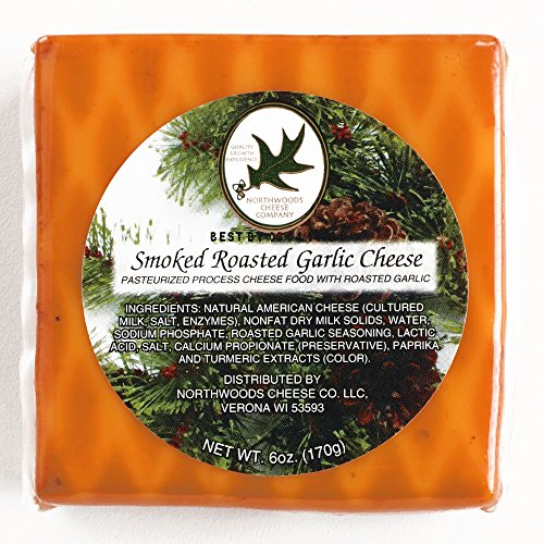 - Northwoods Smoked Roasted Garlic Cheese 6 oz each (2 Items Per Order, not per case)