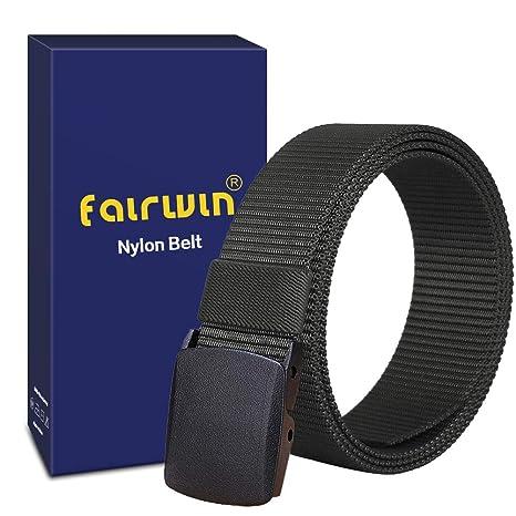 Fairwin Ceinture de sécurité Respirante en Nylon avec Ceinture Tactique,  Boucle Ajustable de Style Militaire de6f282d672