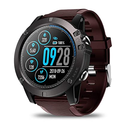 Zeblaze Vibe 3 PRO Smart Watch,Heart Rate IP67 Waterproof Bluetooth 4.0 Smartwatch Smart Sports Watch Tracker for Android and iOS(Red)