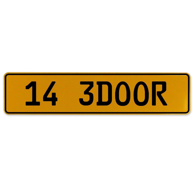 Vintage Parts 563027 14 3DOOR Yellow Stamped Aluminum European Plate