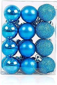 24pcs Christmas Ball Baubles,1.2