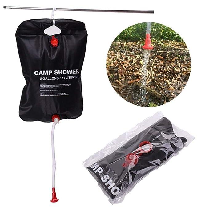 20L Solar Heizung Camping Dusche Tasche Solarenergie beheizte Dusche Tasche Reise Wandern Klettern PVC Wasser Tasche LIOOBO Solar Dusche Tasche