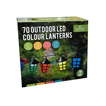 Benross GardenKraft 17300 Assorted Colour Lantern String Garden