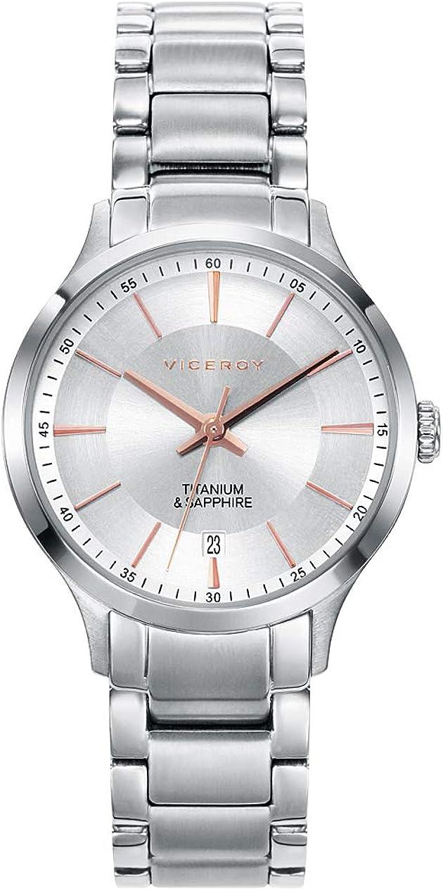 Viceroy Reloj Analogico para Mujer de Cuarzo con Correa en Titanio 471132-07