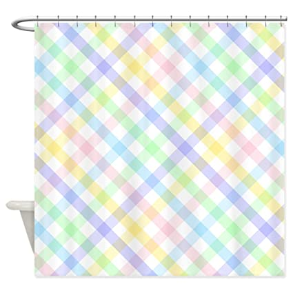 Image Unavailable Not Available For Color CafePress Pastel Plaid Shower Curtain Decorative Fabric