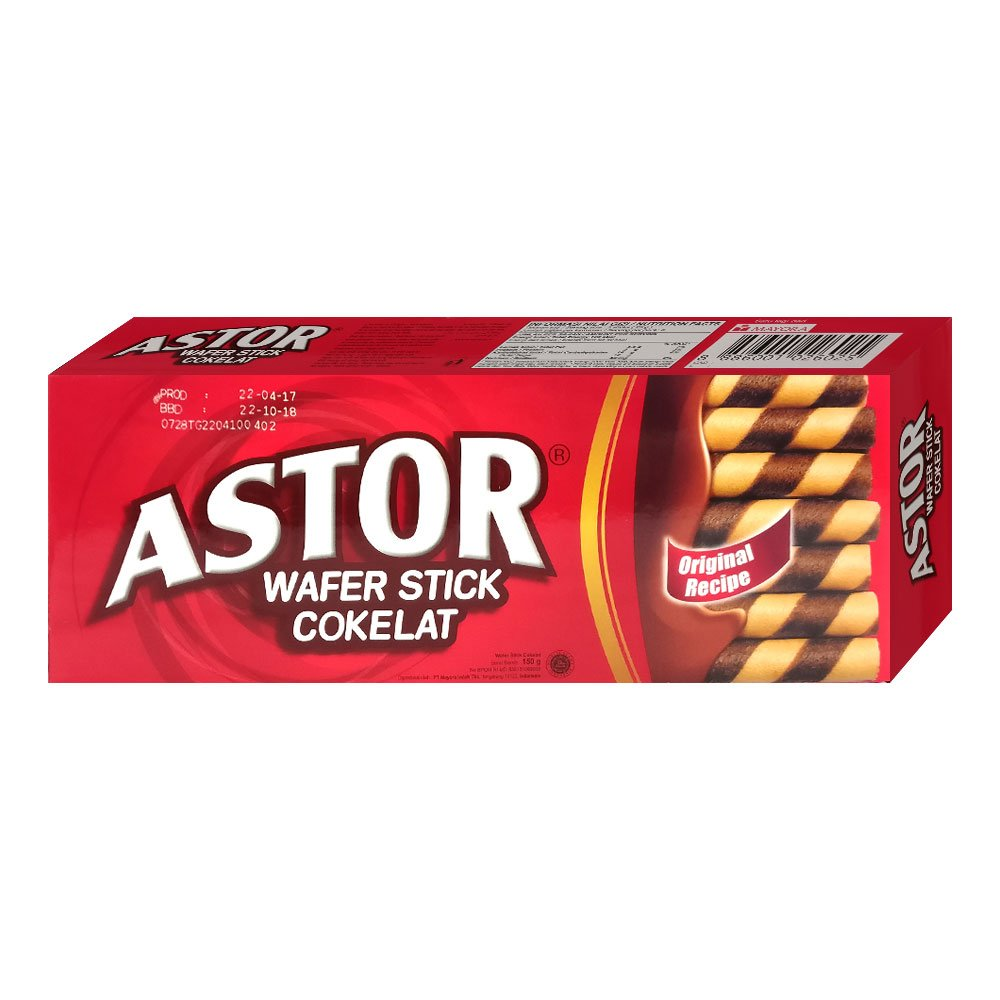 Astor Chocolate Wafer Stick 150g