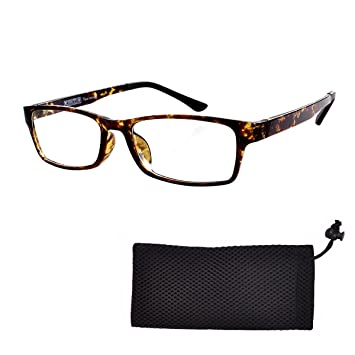 27b8f3c758c Reading Glasses Mens Womens Everyday use Readers Eyeglasses Office Eyewear  Tortoise Frame Reading Glasses +4.25