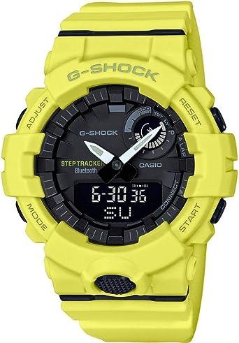 Casio Reloj Digital para Hombre de Cuarzo con Correa en Resina GBA-800-9AER, Amarillo Neón: Amazon.es: Relojes