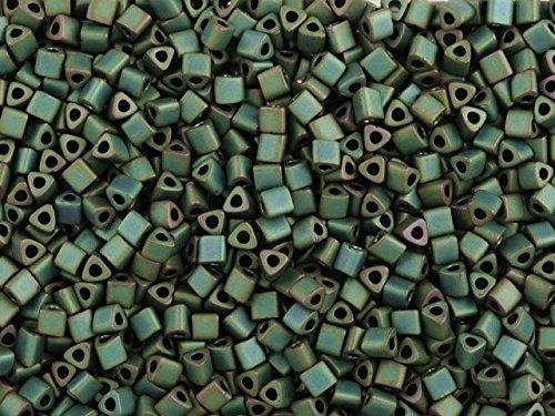 TOHO Bead Triangle 11/0 Matte Mica Green/Blue