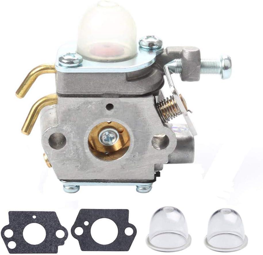 308054001 Carburetor for Homelite UT-08580 08981 50500 21506 21947 26cc Blower Trimmer Carb with Gasket Primer Bulb