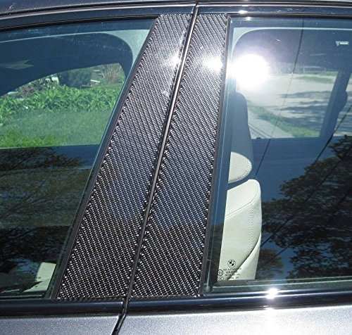 707 Motoring Fits Dodge Grand Caravan 2008-2017 Real Carbon Fiber Black Window Pillar Posts Trim 6PCS