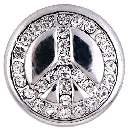 Morella ® pour petit click-button ø 12 mm peace argent
