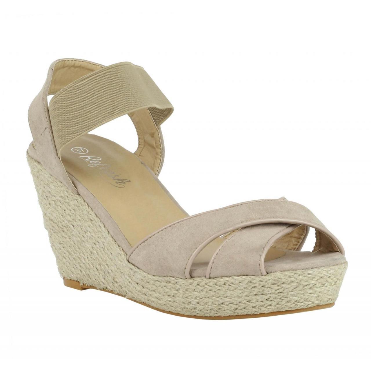 Refresh Schuhe Keilabsatz für Damen 61953 ANT Nude Nude Nude 53ce9b