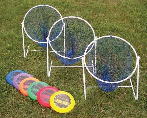Low Disc Golf Target Sets (Includes 3 Targets and 6 Discs) by Olympia Sports