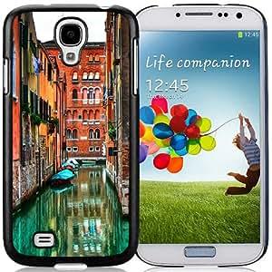 Hot Sale Samsung Galaxy S4 I9500 Case ,Venetian Roads Black Samsung Galaxy S4 Cover Unique And Popular Designed Phone Case