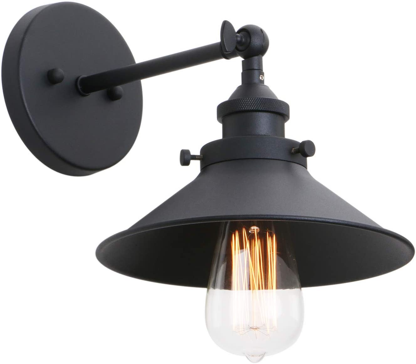 Phansthy Industrial Wall Sconce Light 7.87 Inches Vintage Style 1-Light Sconce Light Shade