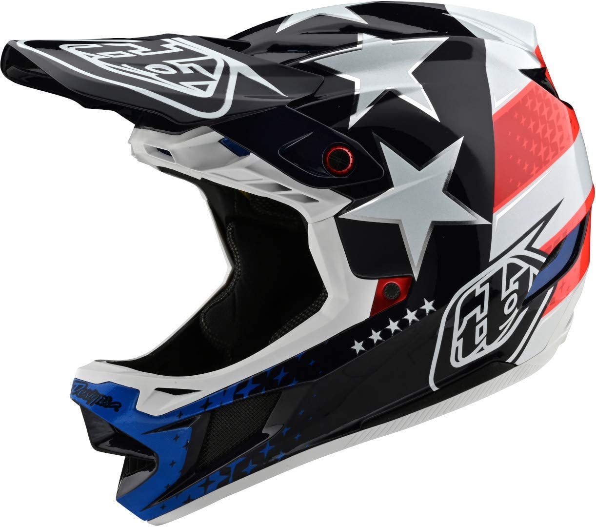 Troy Lee Designs D4 Composite Stealth Adult Off-Road BMX Cycling Helmet