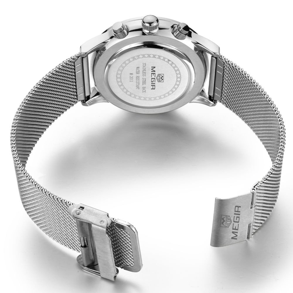 Amazon.com: Relojes de Hombre Moda Reloj Hombre Stainless Steel Mesh Band Waterproof Business Dress Watch Hour for Man RE0073: Watches