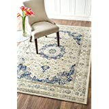 nuLOOM 200RZBD07A-203 Traditional Persian Dark Blue Rug (2-Feet X 3-Feet)