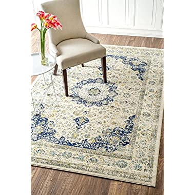 nuLOOM Machine Made Leta Area Rug, 7' 10  x 10' 10 , Blue