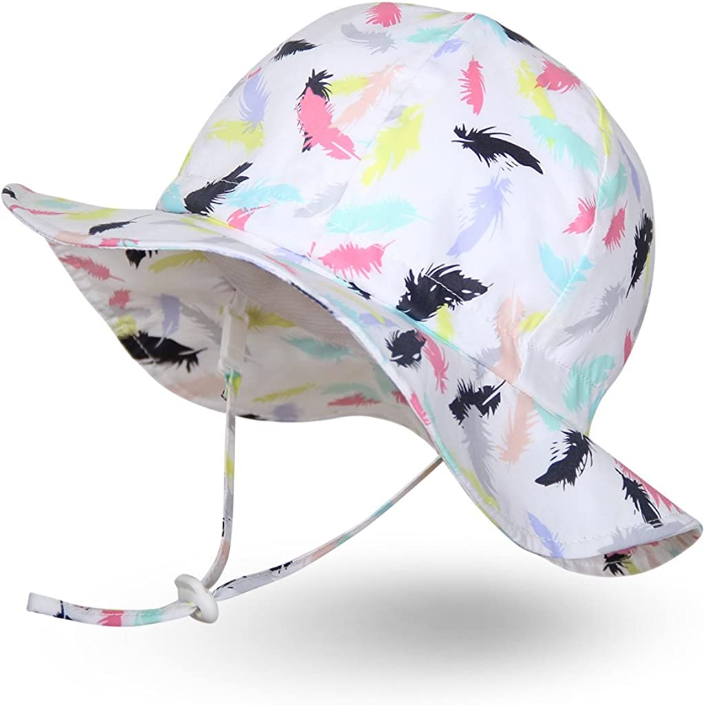 Ami&Li tots Unisex Child Adjustable Wide Brim Sun Protection Hat UPF 50 Sunhat for Baby Girl Boy Infant Kids Toddler
