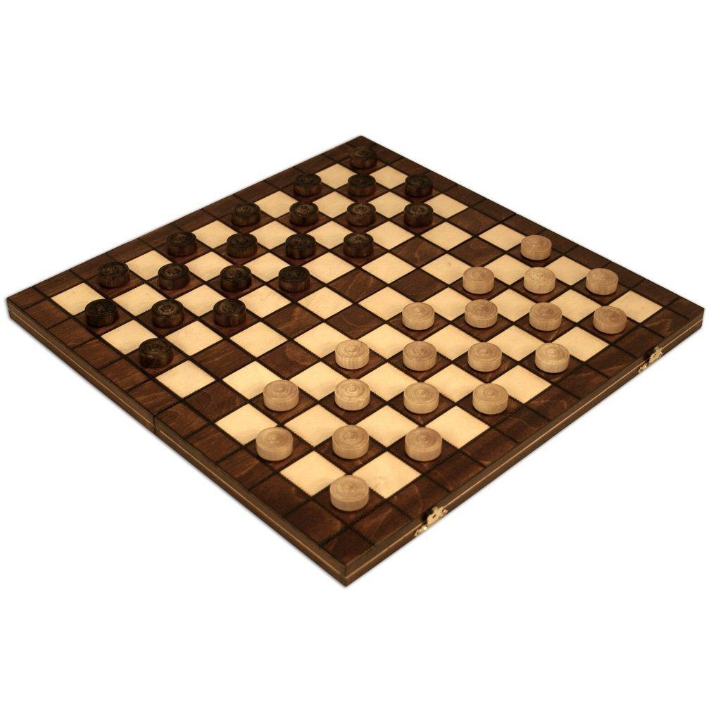 (お得な特別割引価格) Checkers Set in Field Folding Wooden Checkers Case - 100 Playing Wooden Field - 15-1/2'' [並行輸入品] B01MA3D86S, WALKTOOL:3f79f514 --- arianechie.dominiotemporario.com