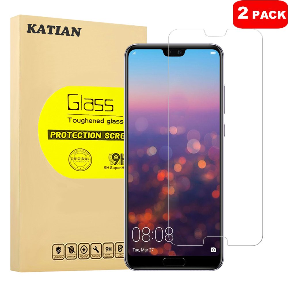 Katiano [2 штук] Huawei P20 Pro, высококачественная закаленная стеклянная пленка [0.3 мм] [анти-царапины] [анти-пузырь] [] антиотражающая и анти-отпечатка пальца ультратонкая защитная пленка для Huawei P20 Pro